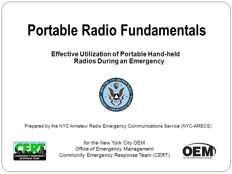 Portable Radio Fundamentals