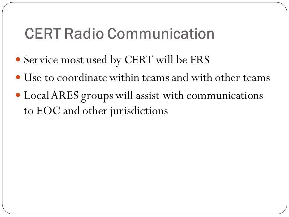 CERT Radio Communication