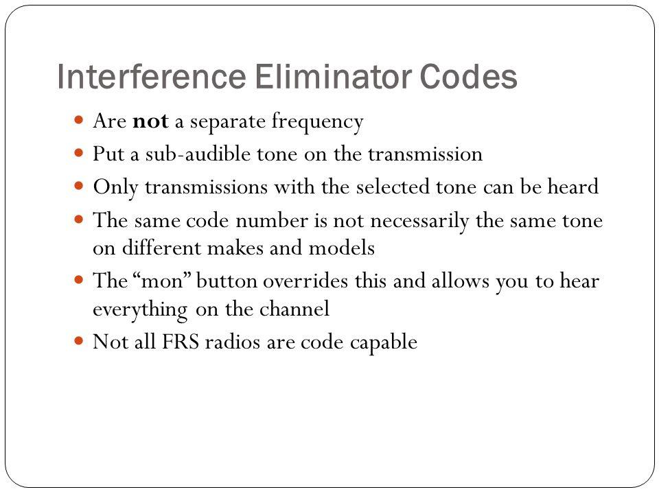 Interference Eliminator Codes