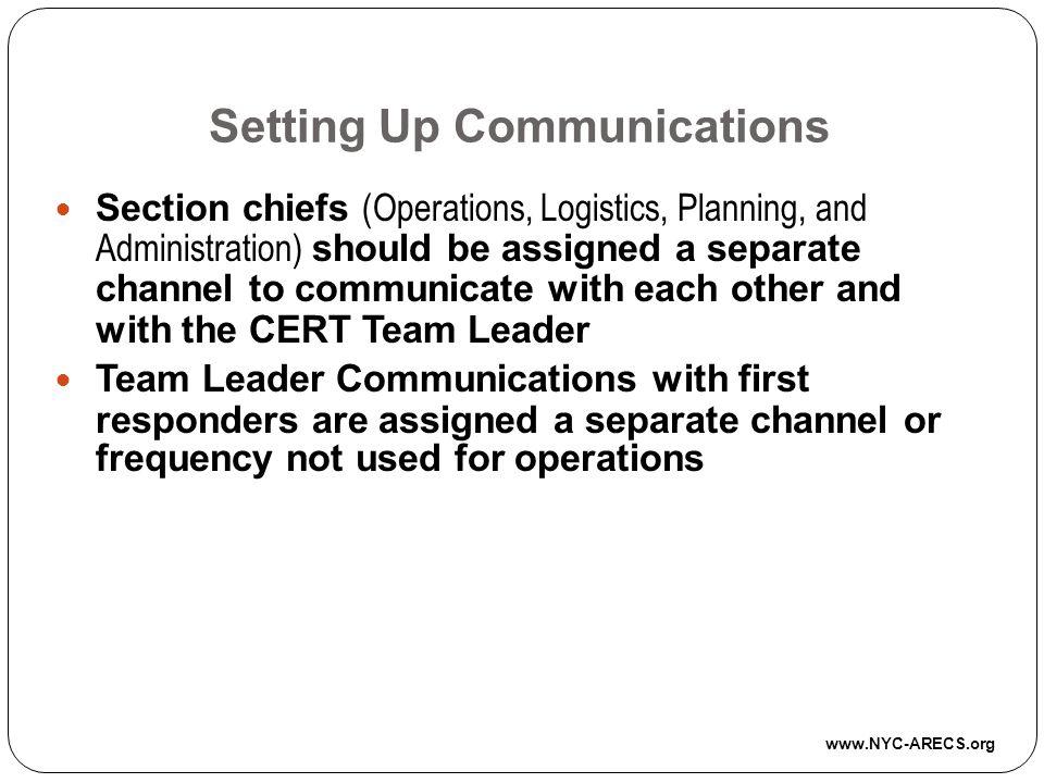 Setting Up Communications
