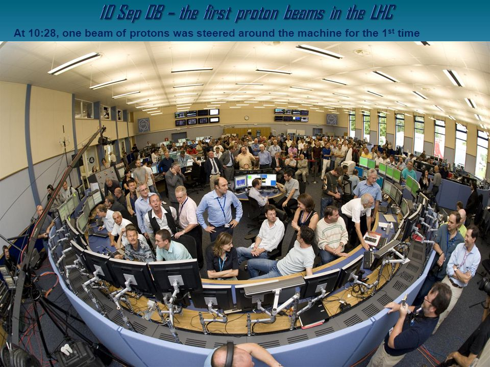 10 Sep 08 – the first proton beams in the LHC