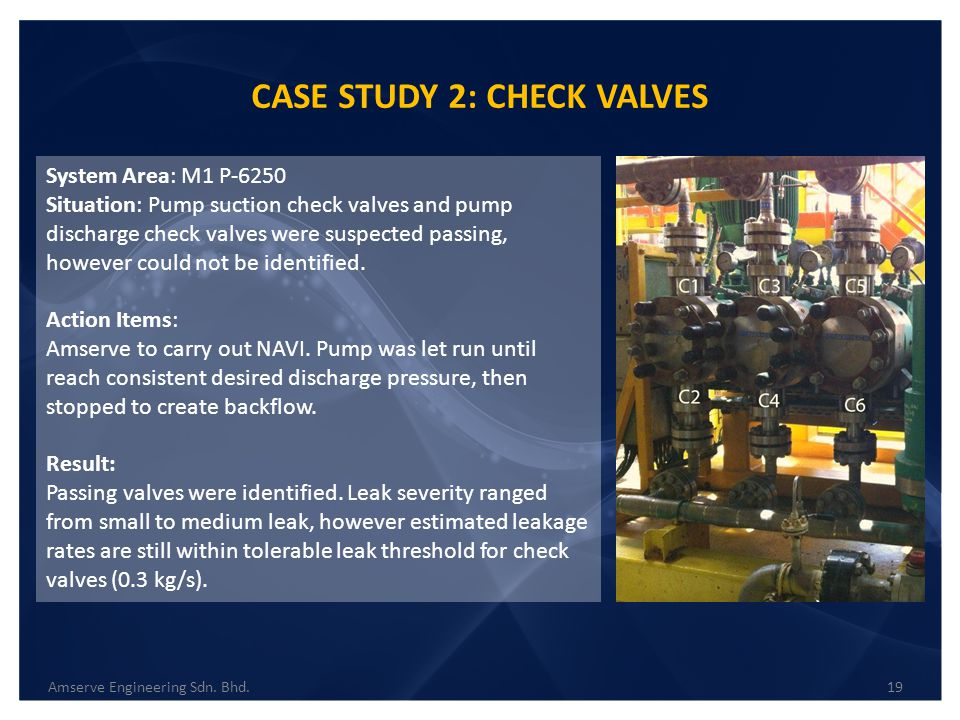 CASE STUDY 2: CHECK VALVES