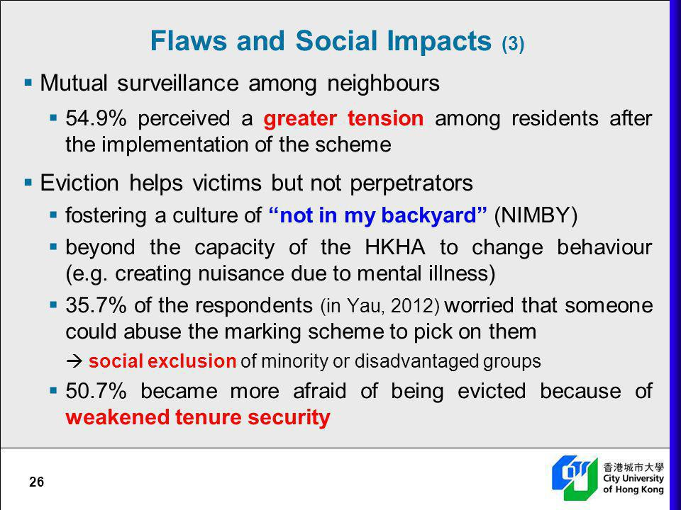 Flaws and Social Impacts (3)