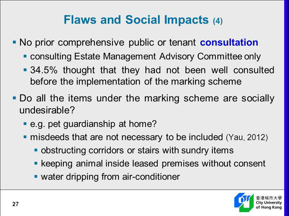 Flaws and Social Impacts (4)
