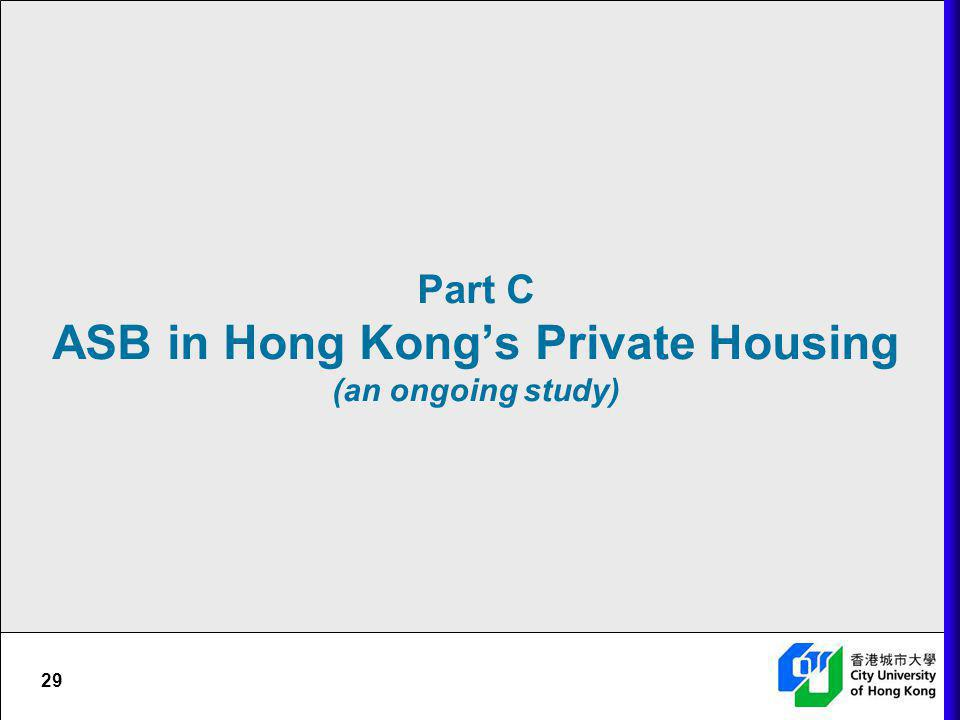 Part C ASB in Hong Kong's Private Housing (an ongoing study)