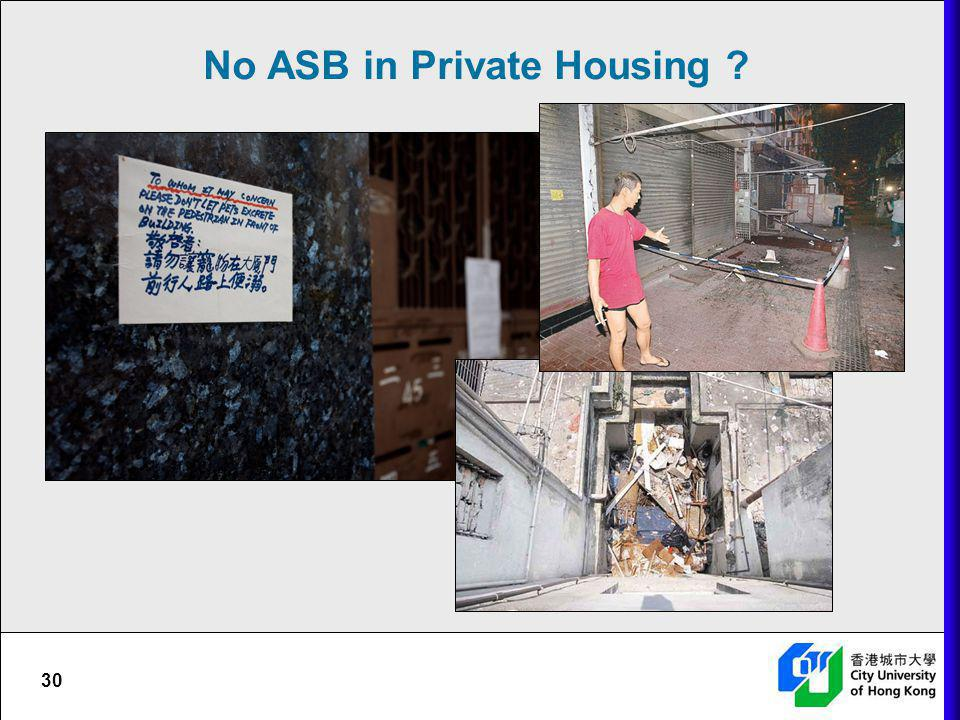 No ASB in Private Housing