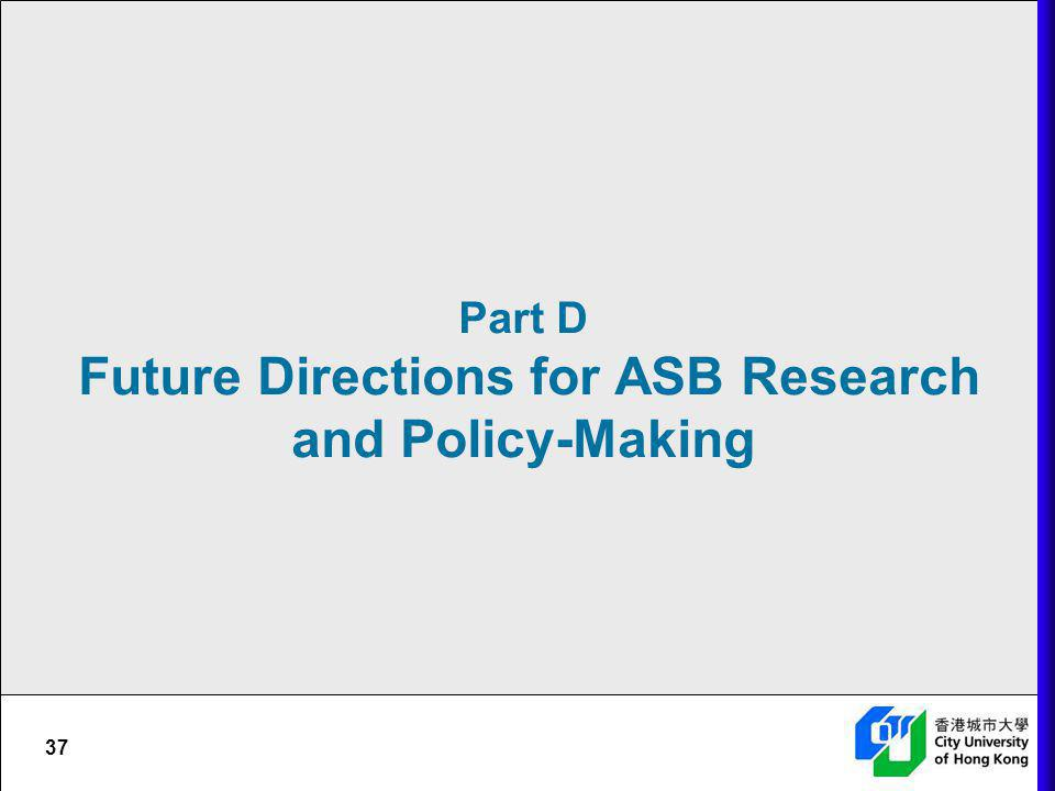 Part D Future Directions for ASB Research and Policy-Making