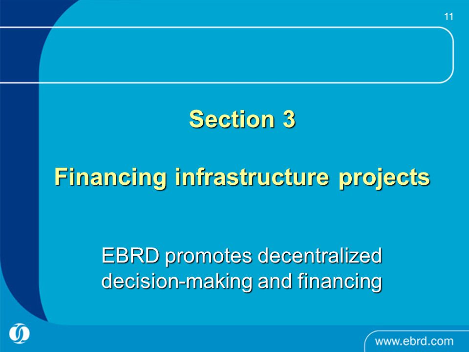Section 3 Financing infrastructure projects