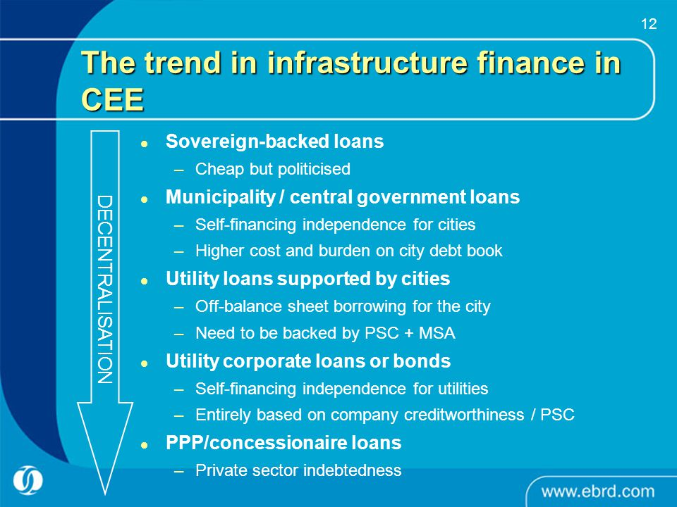 The trend in infrastructure finance in CEE