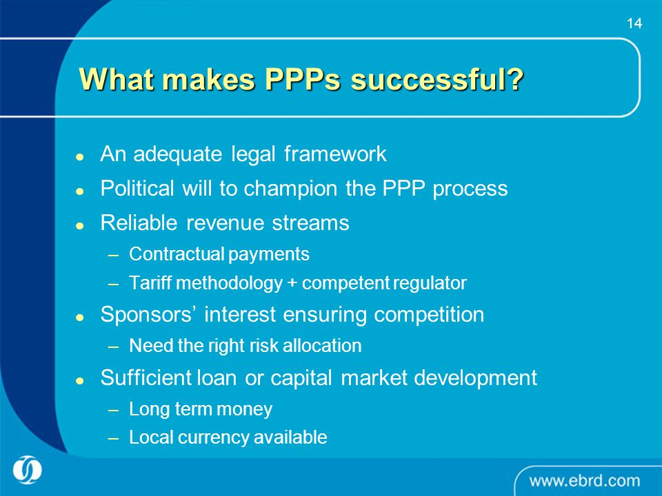 What makes PPPs successful