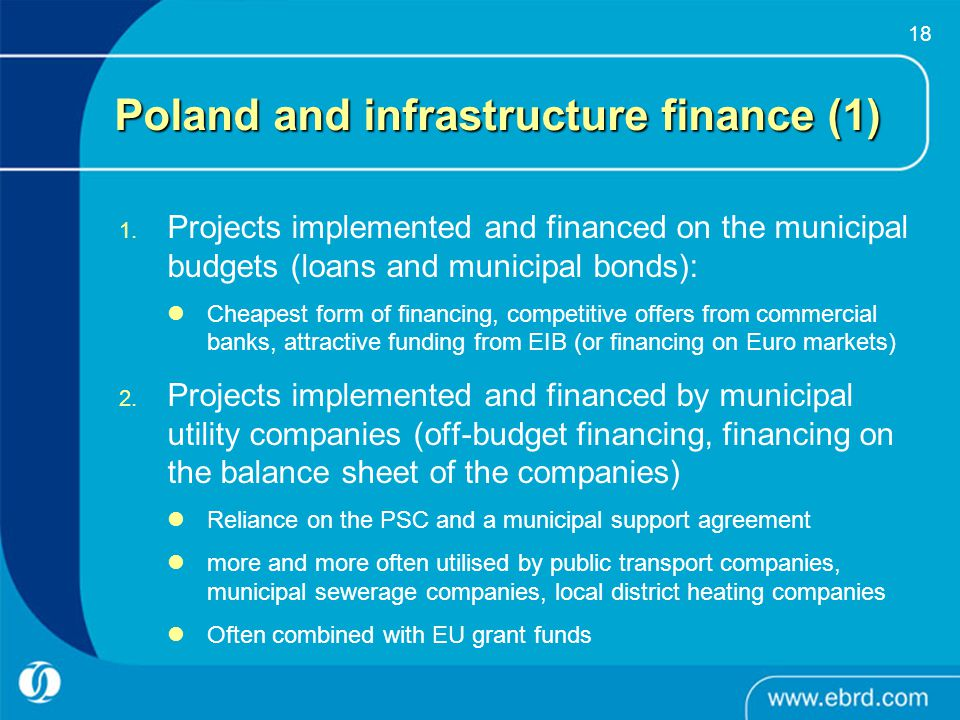 Poland and infrastructure finance (1)