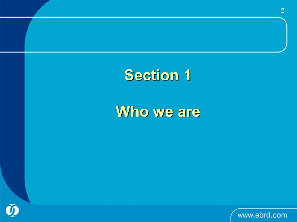 Section 1 Who we are