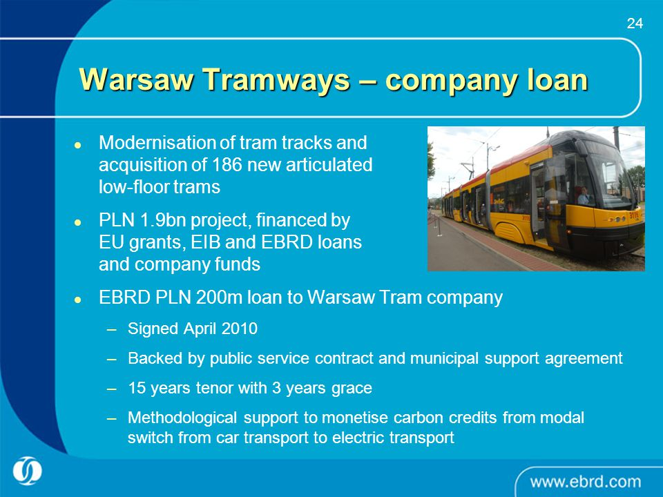 Warsaw Tramways – company loan