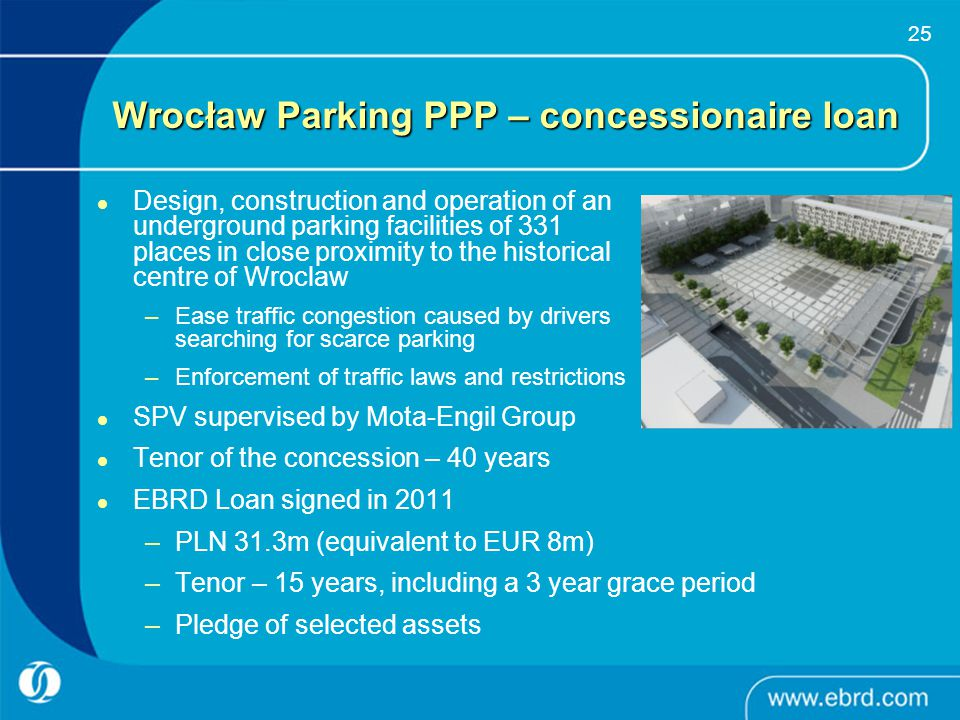 Wrocław Parking PPP – concessionaire loan