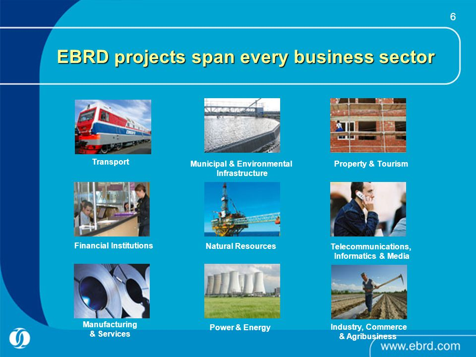 EBRD projects span every business sector
