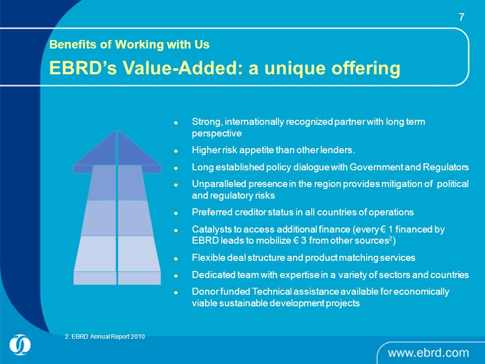 EBRD's Value-Added: a unique offering