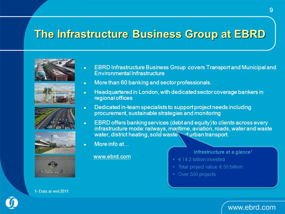 The Infrastructure Business Group at EBRD