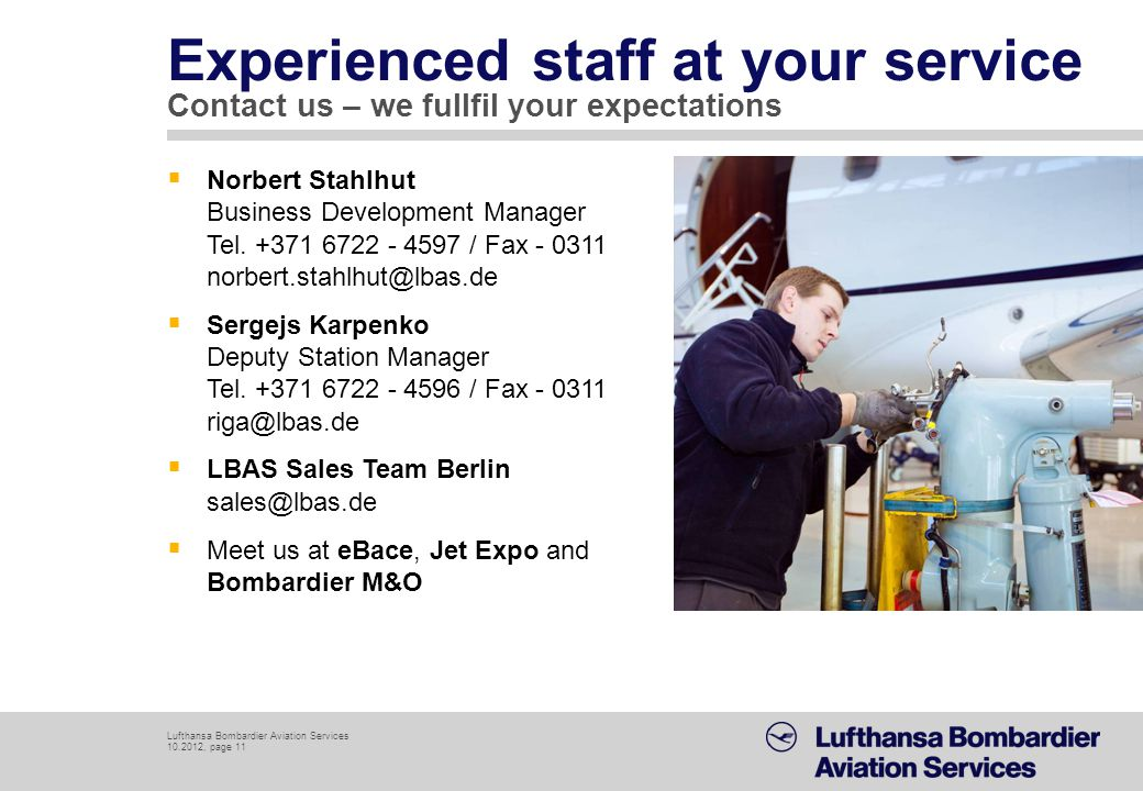 Experienced staff at your service