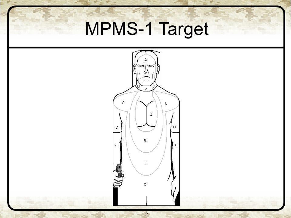 MPMS-1 Target D A D D A D C B A