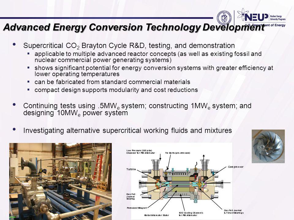 Advanced Energy Conversion Technology Development