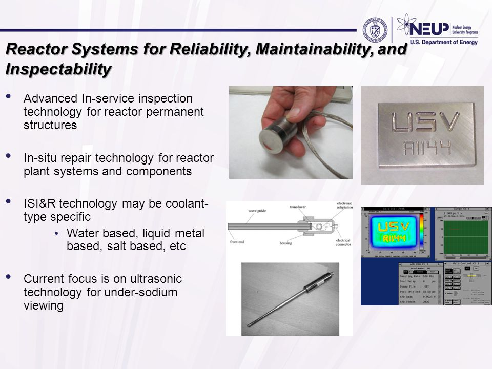 Reactor Systems for Reliability, Maintainability, and Inspectability