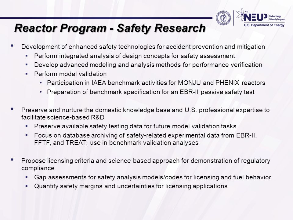 Reactor Program - Safety Research