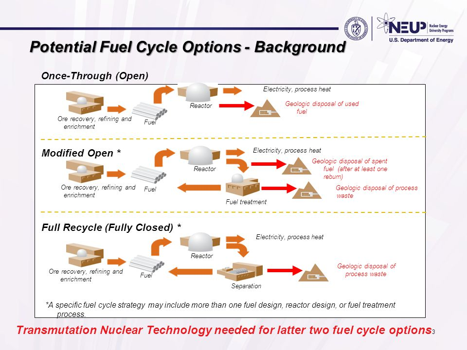 Potential Fuel Cycle Options - Background
