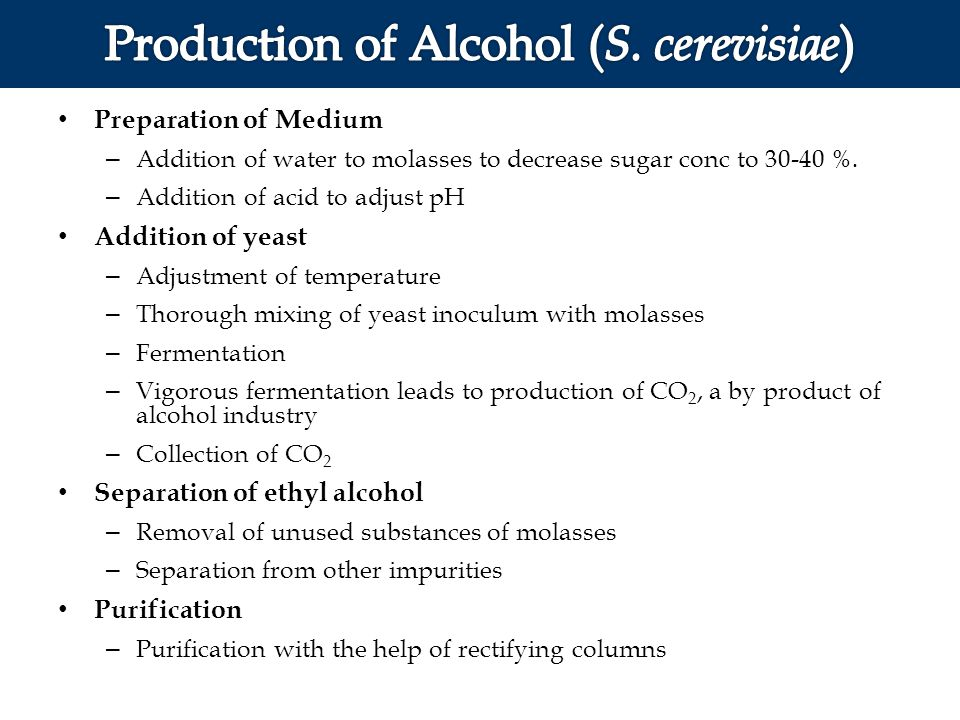 Production of Alcohol (S. cerevisiae)
