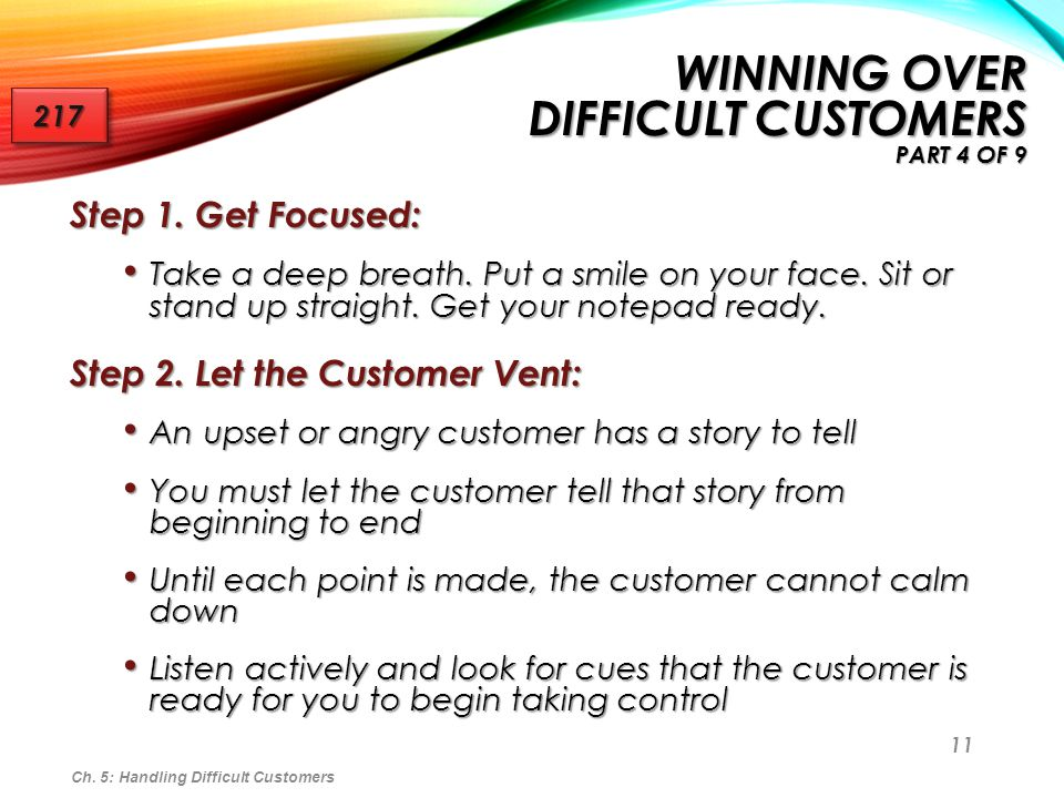 Winning Over Difficult Customers Part 4 of 9