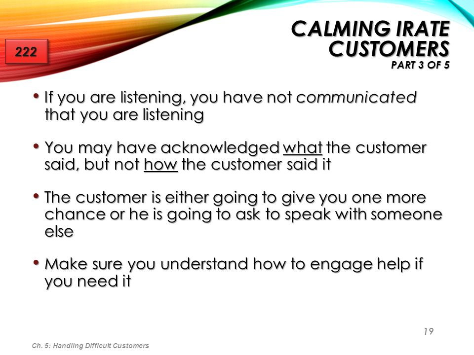 Calming Irate Customers Part 3 of 5