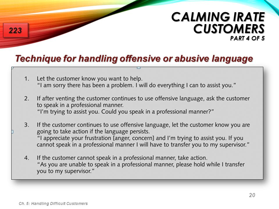 Calming Irate Customers Part 4 of 5
