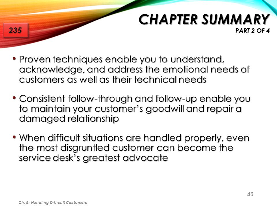 Chapter Summary Part 2 of 4