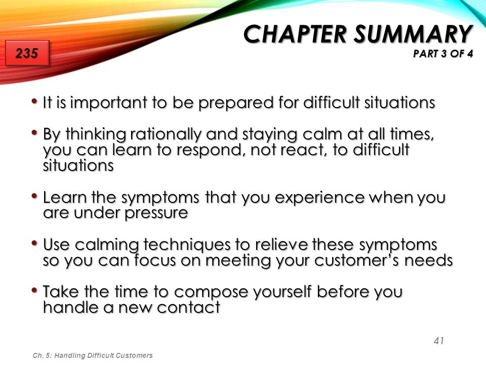 Chapter Summary Part 3 of 4