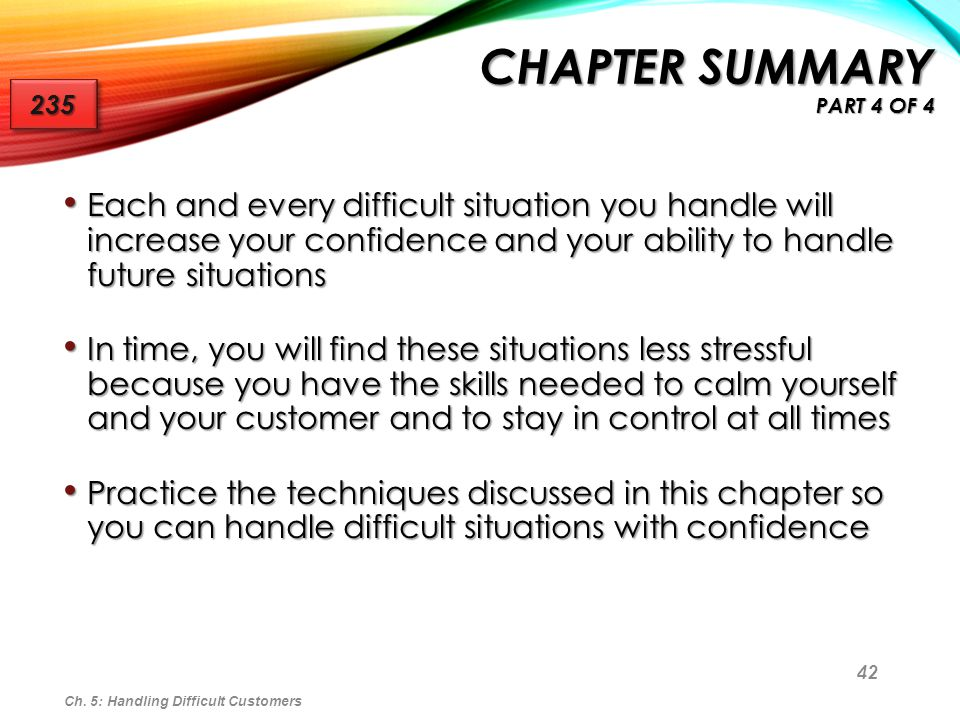Chapter Summary Part 4 of 4