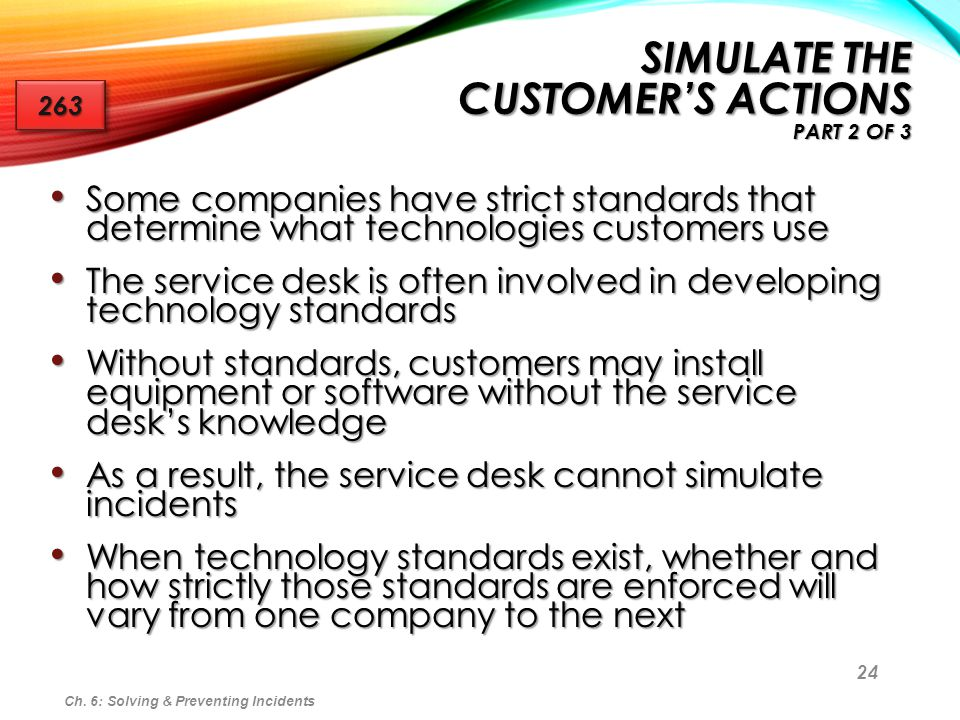 Simulate the Customer's Actions Part 2 of 3