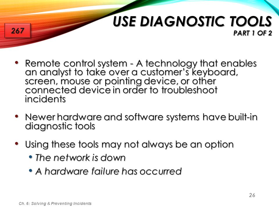 Use Diagnostic Tools Part 1 of 2