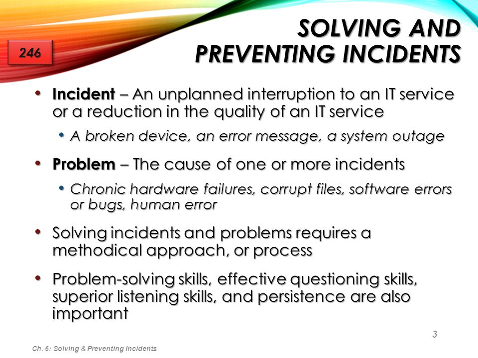 Solving and Preventing Incidents