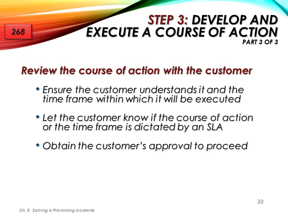Step 3: Develop and Execute a Course of Action Part 3 of 3