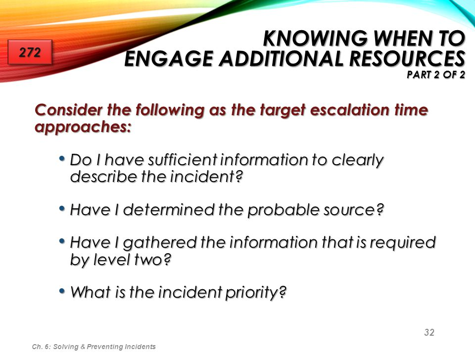 Knowing When to Engage Additional Resources Part 2 of 2
