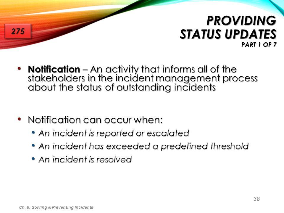 Providing Status Updates part 1 of 7