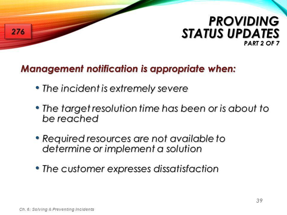 Providing Status Updates part 2 of 7