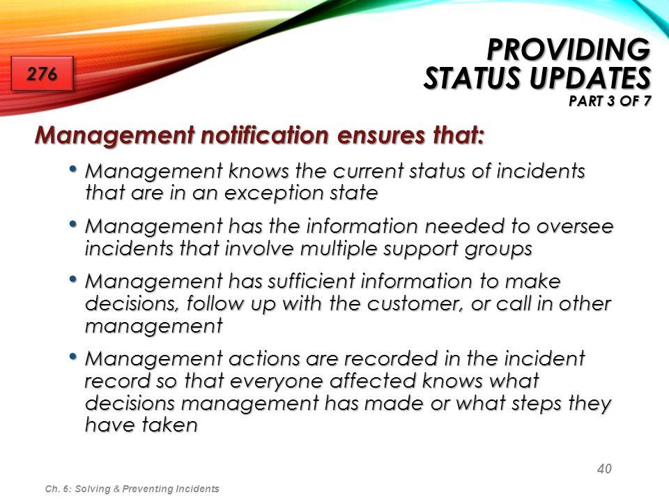 Providing Status Updates part 3 of 7