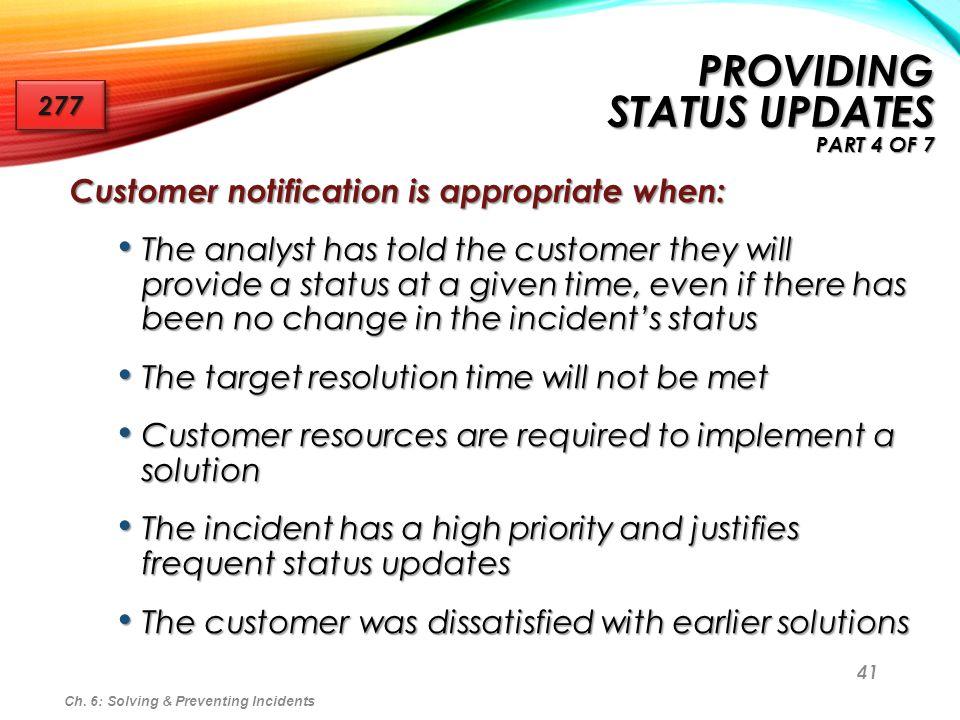 Providing Status Updates part 4 of 7