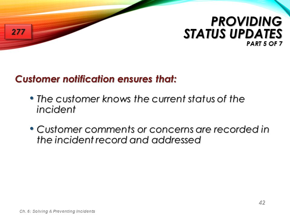 Providing Status Updates part 5 of 7