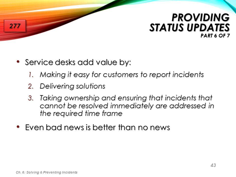 Providing Status Updates part 6 of 7