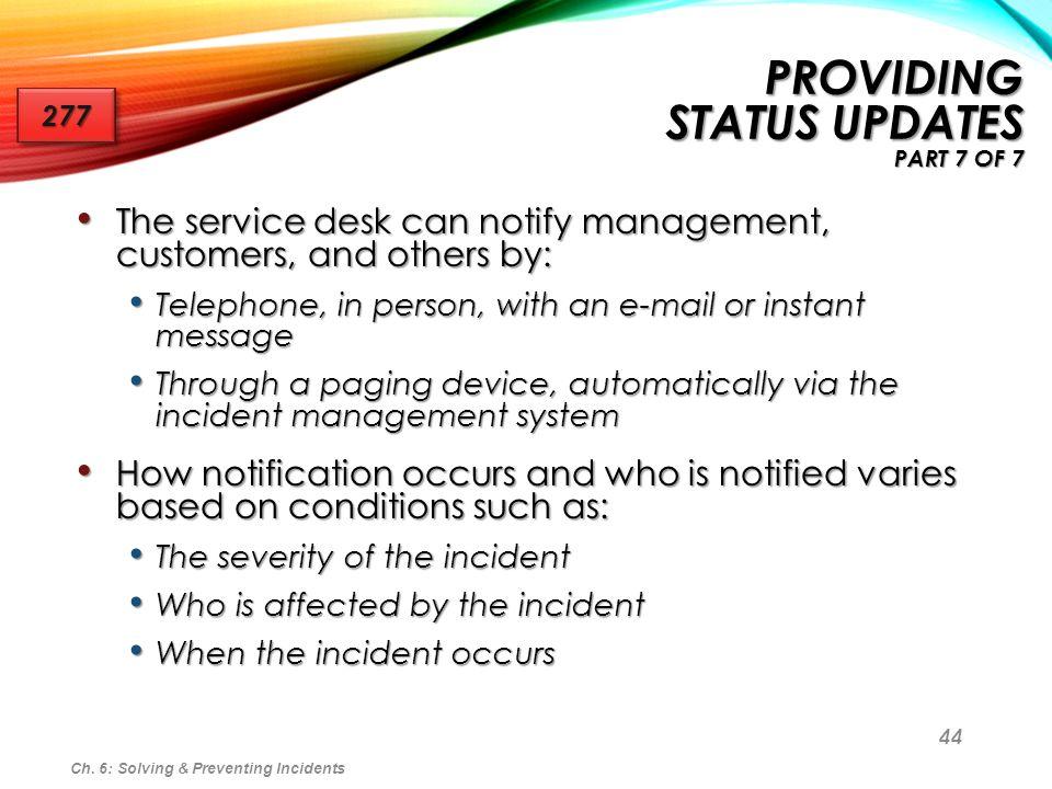Providing Status Updates part 7 of 7