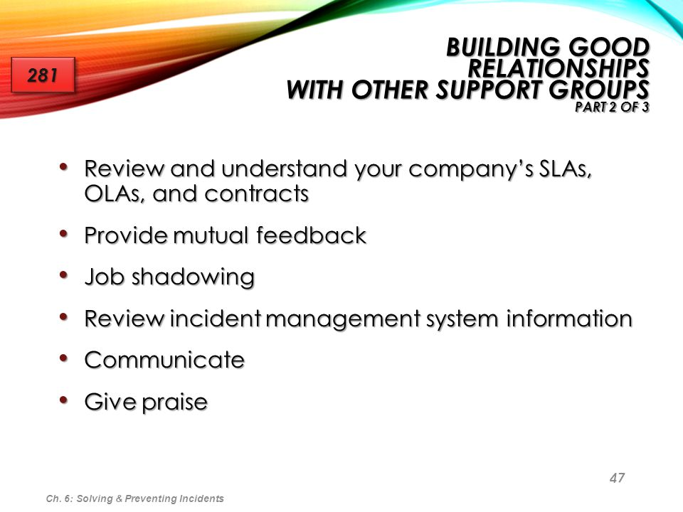 Building Good Relationships With Other Support Groups part 2 of 3