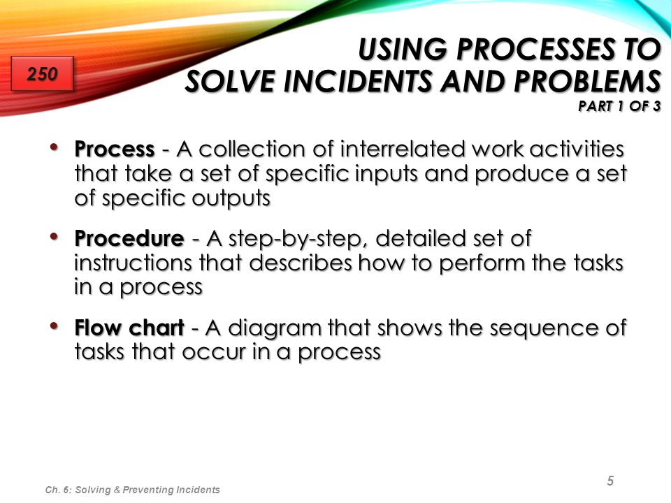 Using Processes to Solve Incidents and Problems part 1 of 3