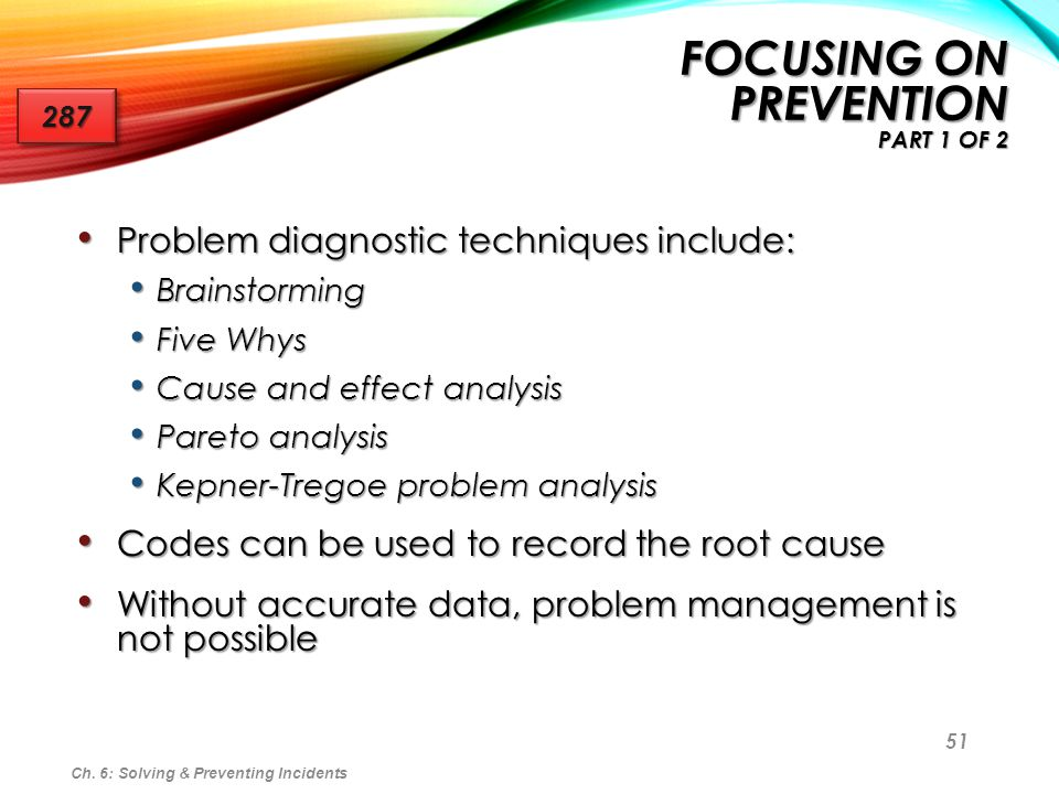 Focusing on Prevention Part 1 of 2