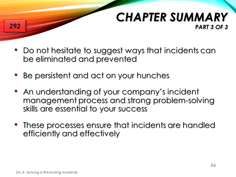 Chapter Summary Part 3 of 3